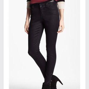 Wit & Wisdom Graphic Coated Skinny Black Jeans